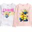 H&M : เสื้อยืดแขนยาว สกรีนลายมินเนียน สีชมพู size : 2-4y / 4-6y / 6-8y thumbnail 3