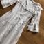เดรสยาวผ้าคอตตอนปักและฉลุลายสีขาวสไตล์วินเทจ thumbnail 14