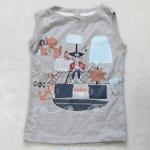 H&M : เสื้อกล้ามสีเทา สกรีนลาย โจรสลัด Size : 1y / 2y / 4y