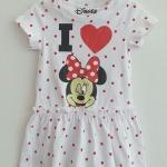 Disney : เดรส มินนี่ สีขาวจุดแดง size : 2-4y