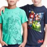 H&M : เสื้อยืด สกรีนลาย Avenger สีเขียว size : 1-2y / 10-12y