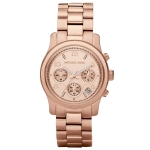 นาฬิกาข้อมือ Michael Kors MK5128 Rose Gold-Tone Runway Midsized Watch Size 38 mm