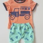 ชุดเซ็ทเสื้อ+กางเกง ลายรถ size : 100 / 110 / 130