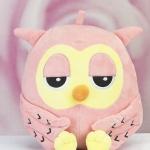 ตุ๊กตานกฮูกสีชมพู สูง 11 นิ้ว