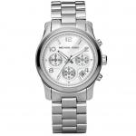 นาฬิกาข้อมือ Michael Kors MK5076 Silver-Tone Runway Midsized Watch Size 38 mm
