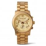 นาฬิกาข้อมือ Michael Kors MK5055 Gold-Tone Runway Midsized Watch Size 38 mm