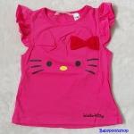 H&M : เสื้อยืด ผ้า cotton หน้าคิตตี้ Hello Kitty สีชมพูเข้ม size : 1-2y / 2-4y / 4-6y / 6-8y / 10-12y / 12-14y