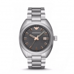 นาฬิกาข้อมือ Emporio Armani Men' Silver Tone Gray Dial Stainless Steel Watch AR6128 Size 43 mm