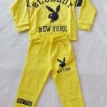 Carter's : Set เสื้อแขนยาว+กางเกงขายาว ลาย Blue Boy สีเหลือง เนื้อผ้า นิ่ม ไม่หนามาก Size : 2y / 4y / 6y