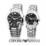 นาฬิกาข้อมือ Emporio Armani AR0674 Emporio Armani Midsize AR0674 Chronograph Stainless Steel Watch