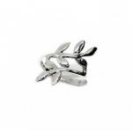 แหวนใบมะกอกแหวนเสริมดวงการงาน แหวนเงินแท้92.5%