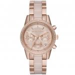 นาฬิกาข้อมือ Michael Kors MK6307 Michael Kors Ritz Quartz Chronograph Rose Dial Rose Gold-tone