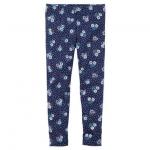 Carter's : เลกกิ้ง สีน้ำเงิน ลายดอกไม้เล็ก (งานขีดป้าย) size 4T / 5T