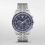 นาฬิกาข้อมือ Emporio Armani Sportivo Chronograph Blue Dial Stainless Steel AR6072