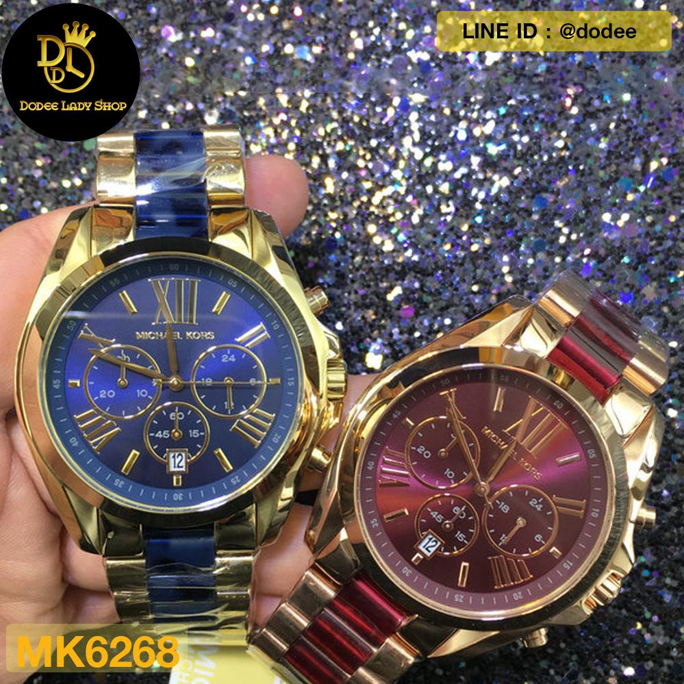 283488d441c1 นาฬิกาข้อมือ Michael Kors MK6268 Michael Kors Bradshaw Blue Dial Chronograph  Men s Watch MK6268 - DodeeLadyShop จำหน่ายนาฬิกาข้อมือยี่ห้อ Michael Kors