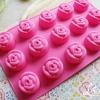 แม่พิมพ์ซิลิโคน ดอกกุหลาบ 15 ดอก 25กรัม/ช่อง ดอกละ 4 ซม. รหัส B084