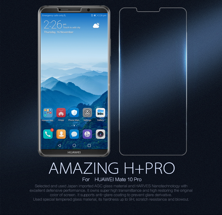 ฟิล์มกระจกนิรภัย Huawei Mate 10 Pro