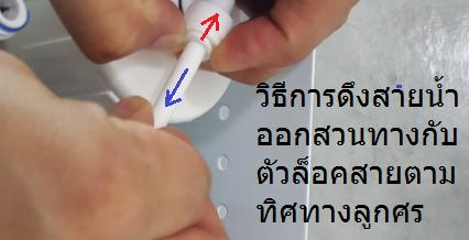 วิธีการดึงสายน้ำออกจากข้องอ