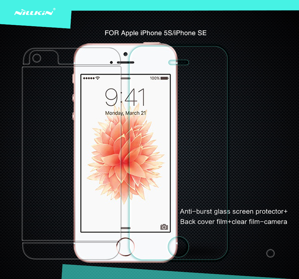 ฟิล์มกระจกนิรภัย Apple iPhone 5S/iPhone SE