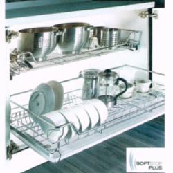 ชุดตะแกรงจัดเก็บติดในตู้ (บน) หน้าบานกว้าง 800 มม. รุ่น HG-301102