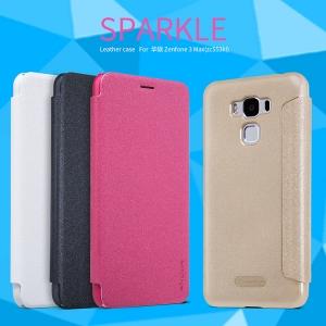 เคสมือถือ Zenfone 3 Max (ZC553KL) รุ่น Sparkle Leather Case