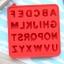 พิมพ์ขนม ตัวอักษร ABC B425