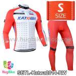ชุดจักรยานแขนยาวทีม Katwa ปี 2014 สีแดงขาว Size S (Pre-order)