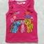 H&M : เสื้อกล้ามลายม้าโพนี่ ดาว สีชมพูเข้ม Size : 6-8y / 10-12y thumbnail 1